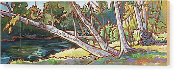 Redstone Swimmimg Hole Wood Print by Nadi Spencer