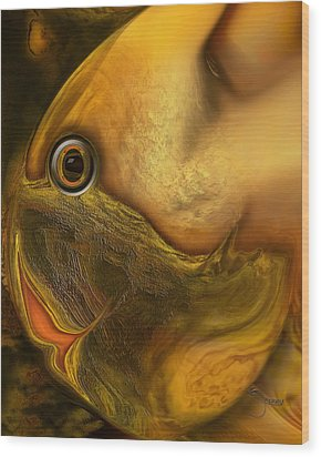 Reef Mistress Wood Print by Steve Sperry