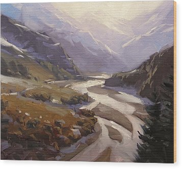 Rees Valley Wood Print by Richard Robinson