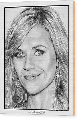 Reese Witherspoon In 2010 Wood Print by J McCombie