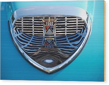 Wood Print featuring the photograph Reflecting Ford by John Schneider