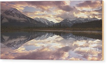 Reflecting Mountains Wood Print by Keith Kapple