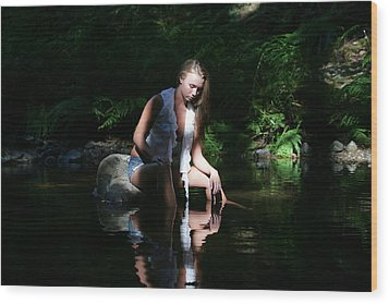 Reflecting Wood Print by Waywardimages Waywardimages
