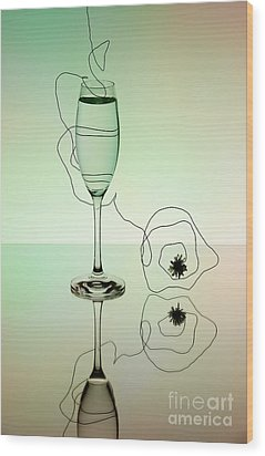 Reflection 02 Wood Print by Nailia Schwarz