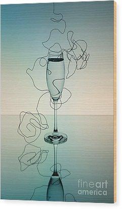 Reflection 03 Wood Print by Nailia Schwarz