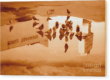 Reflection Wood Print by Gregory Dyer