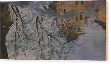 Reflection Wood Print by Khadzhi-Murad Alikhanov