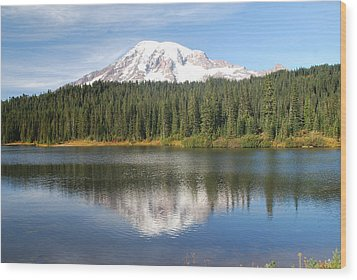 Reflection Lake - Mt. Rainier Wood Print