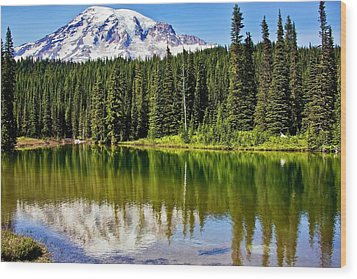 Reflection Lake Wood Print