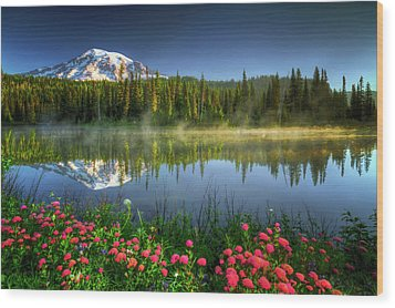 Wood Print featuring the photograph Reflection Lakes by William Lee