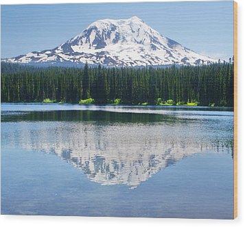 Reflection Of Adams Wood Print