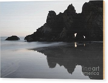 Reflections Big Sur Wood Print by Bob Christopher