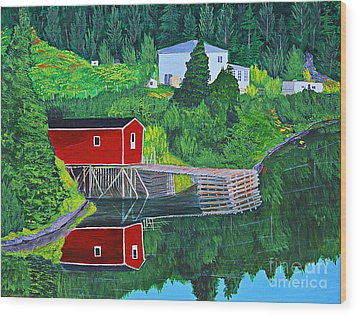 Reflections H D R Wood Print by Barbara Griffin