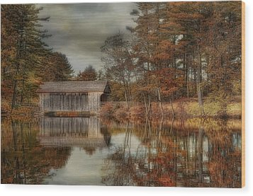 Reflections Of Autumn Wood Print by Robin-Lee Vieira