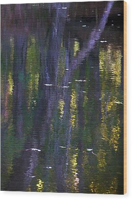 Reflections Of Monet Wood Print by Terry Eve Tanner