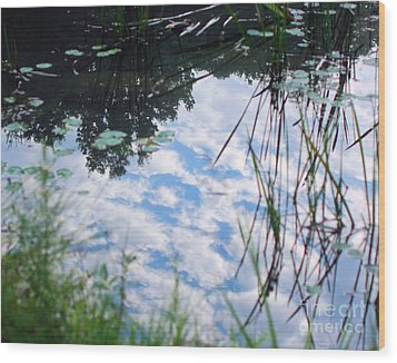Reflections Of The Sky Wood Print
