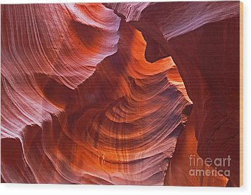 Reflections On The Rock Wood Print by Bob and Nancy Kendrick