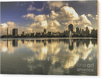 Reflections Over East Side  Wood Print by Rob Hawkins