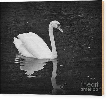 Reflective Beauty Wood Print