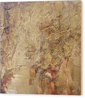 Reflective Wood Print by Jean LeBaron