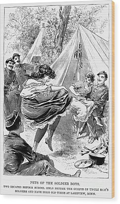 Reform School Girls, 1895 Wood Print by Granger