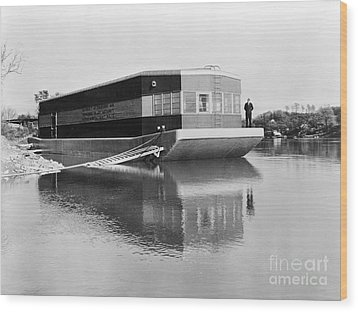 Refrigerated Barge, C1935 Wood Print by Granger