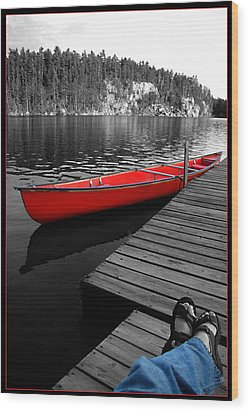 Wood Print featuring the photograph Relax by Brian Duram