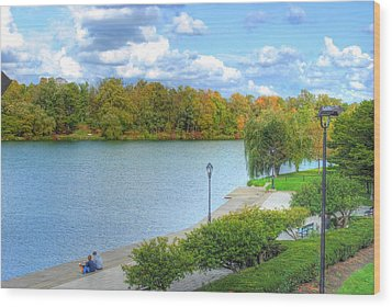 Wood Print featuring the photograph Relaxing At Hoyt Lake by Michael Frank Jr