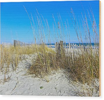 Wood Print featuring the photograph Relaxing By The Sea by Eve Spring
