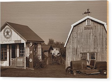 Relics Of The Past Iv Wood Print by Steven Ainsworth