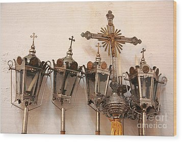 Religious Artifacts Wood Print by Gaspar Avila