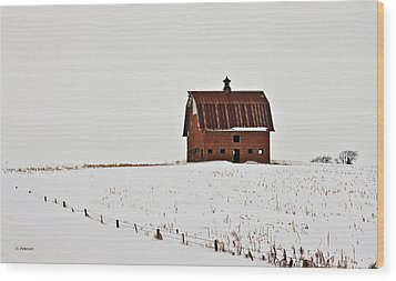 Wood Print featuring the photograph Remaining Barn by Edward Peterson