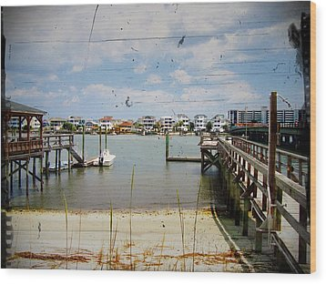 Remembering Wrightsville Beach Wood Print by Joan Meyland