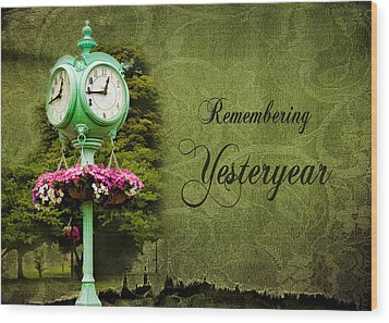 Remembering Yesteryear Wood Print by Trudy Wilkerson