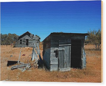 Wood Print featuring the photograph Remnants Of The Past by Renee Hardison