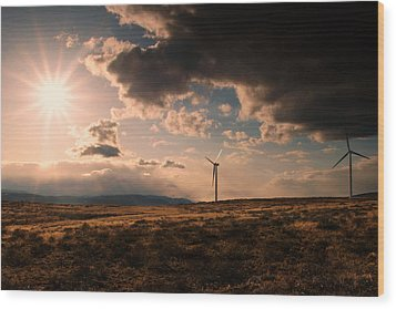 Renewable Energy Wood Print by Dan Mihai