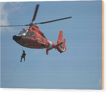 Rescue Helicopter 2 Wood Print