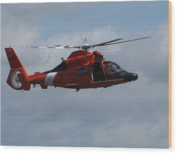 Rescue Helicopter Wood Print
