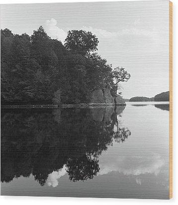 Reservoir Reflection Wood Print by Adam Garelick