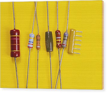 Resistors Wood Print by Andrew Lambert Photography