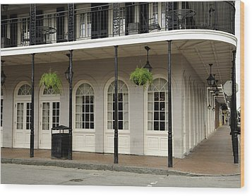 Wood Print featuring the photograph Restaurant On Bourbon Street by Bradford Martin