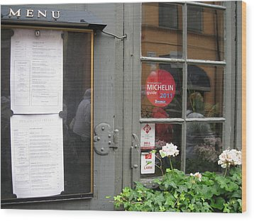Restoran From Michelin Wood Print by Yury Bashkin