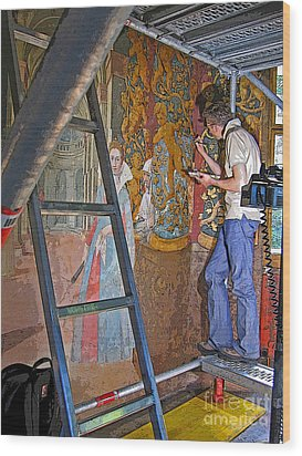 Wood Print featuring the photograph Restoring Art by Ann Horn