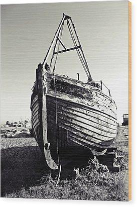 Retired Fishing Boat Wood Print by Sharon Lisa Clarke