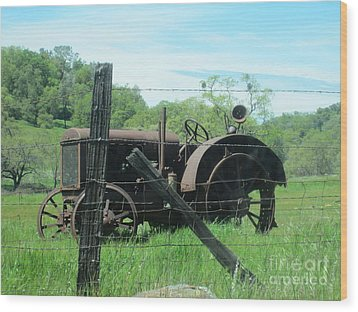 Retired Wood Print by Laurianna Taylor