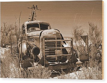 Retired Sepia Wood Print by Bob and Nancy Kendrick