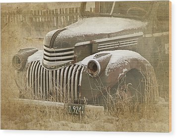 Retired Truck Circa 1924 Wood Print