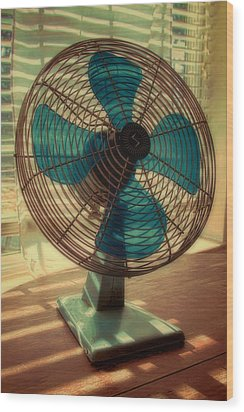 Retro Fan Wood Print by Tony Grider