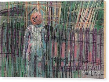 Return Of Pumpkinhead Man Wood Print by Donald Maier