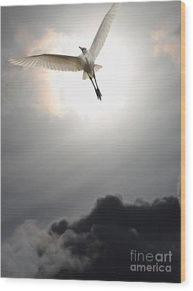 Return To Eternity . Vertical Cut Wood Print by Wingsdomain Art and Photography